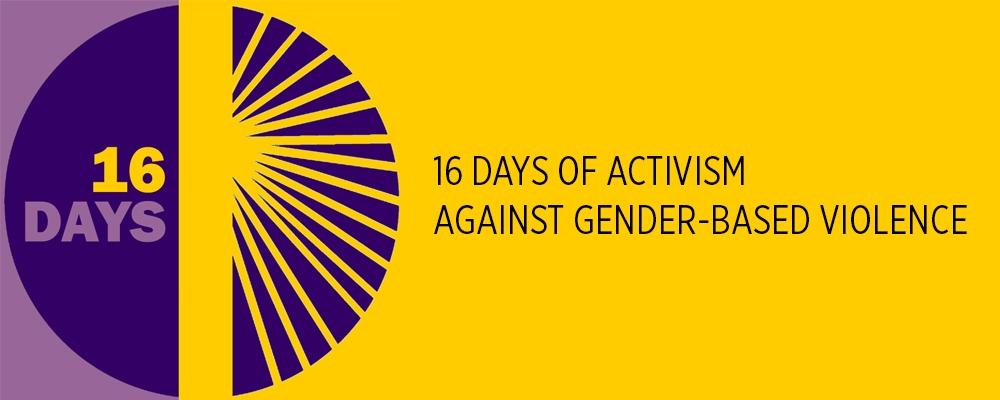 16 days of activism banner