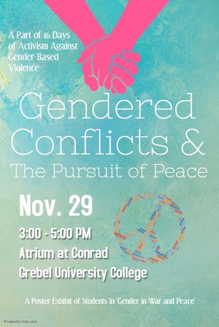 Gendered Conflcits and the Pursuit of Peace poster