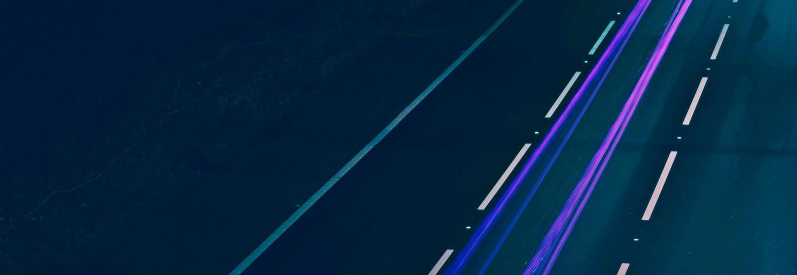 roadway at night