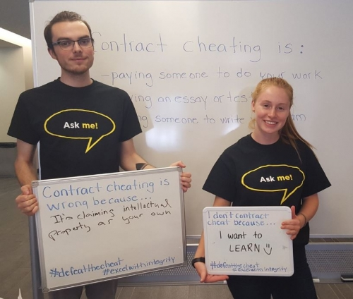 Library Ambassadors on Contract Cheating Day of Action