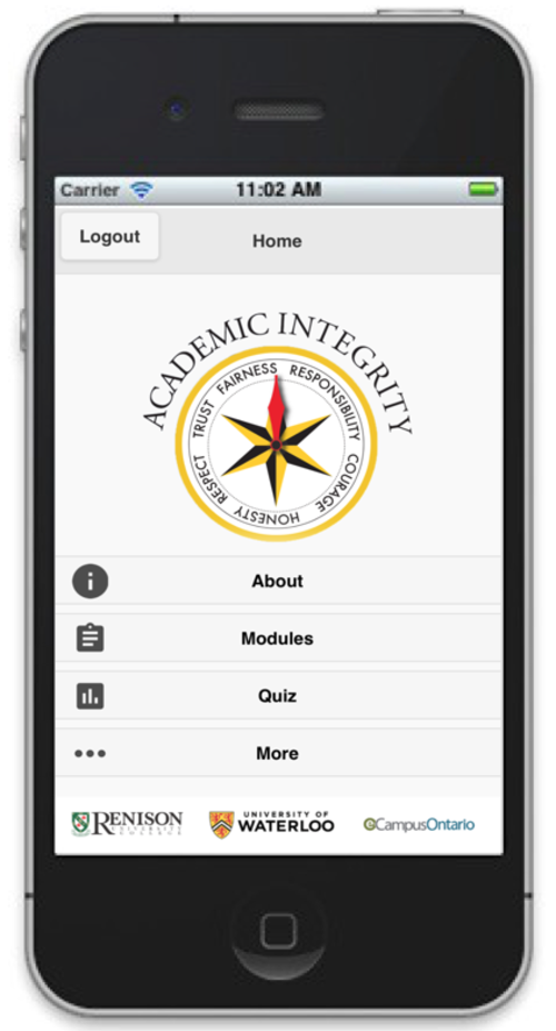 FAS App on a smartphone