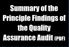 link to summary of audit findings