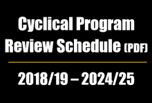 link to cyclical program review schedule 2019-19 to 2024-25