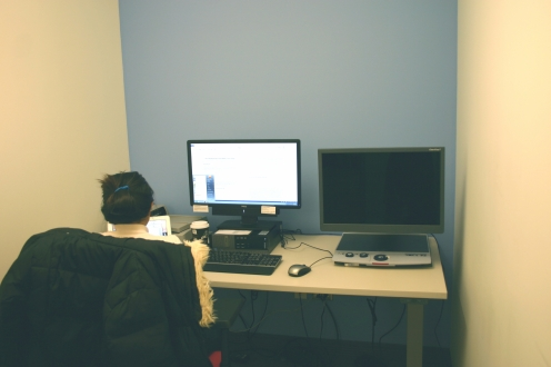 Photo of an individual study room