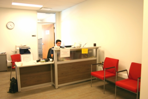 Exam centre reception