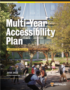 Multi-Year Accessibility Plan 2018-2022 front cover
