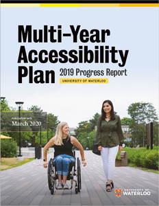 Multi-Year Accessibility Plan 2019 Progress Report front cover