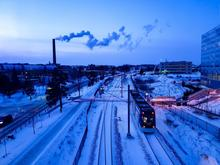 UWaterloo campus near engineering buildings during winter