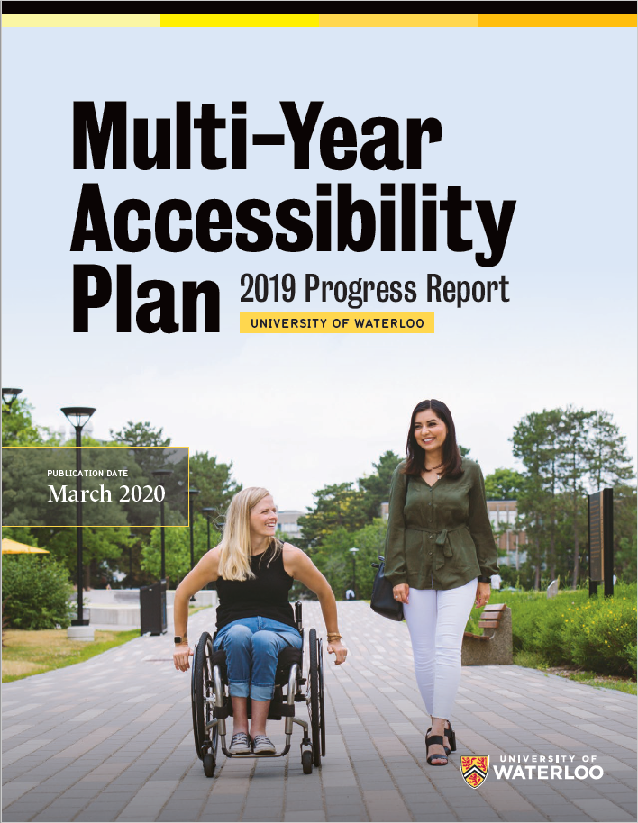 Multi-Year Accessibility Plan 2019 Progress Report cover