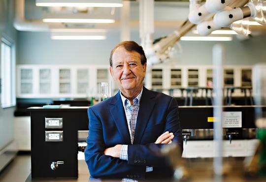 Bill Rickert in a lab