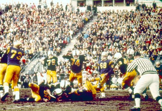 Football game at Seagram Stadium