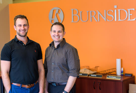 Matt and Jeff Paznar at Burnside office