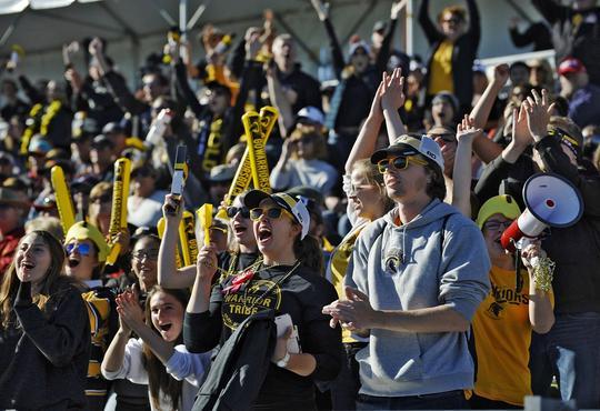 University of Waterloo fans cheering