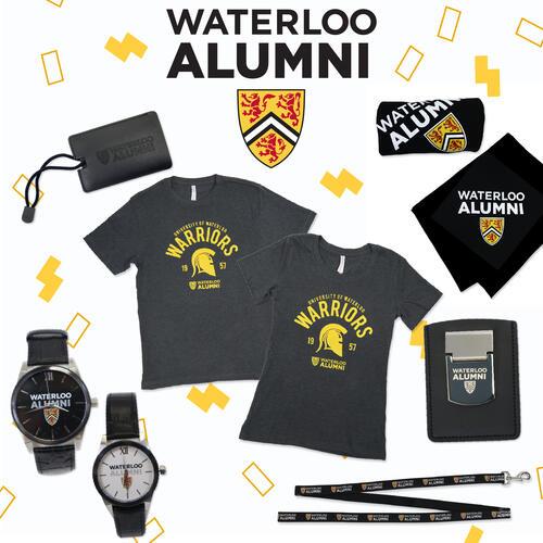 alumni tshirts, watches, blanket
