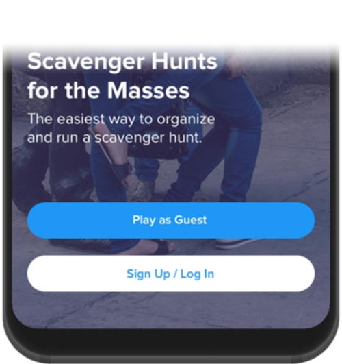 Play as Guest, Sign Up/ Log In