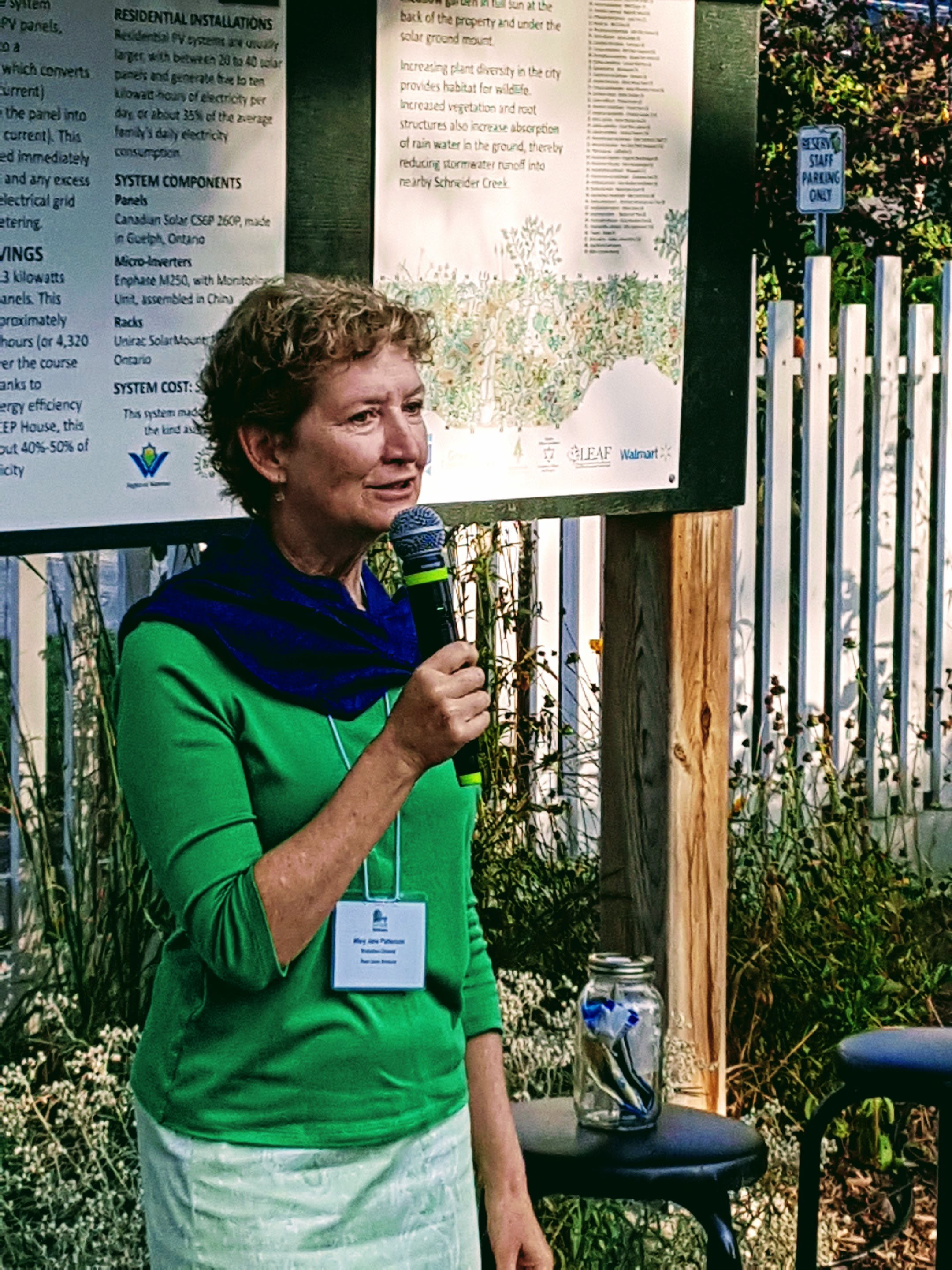 Mary Jane speaking at an event