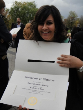 laura with her degree
