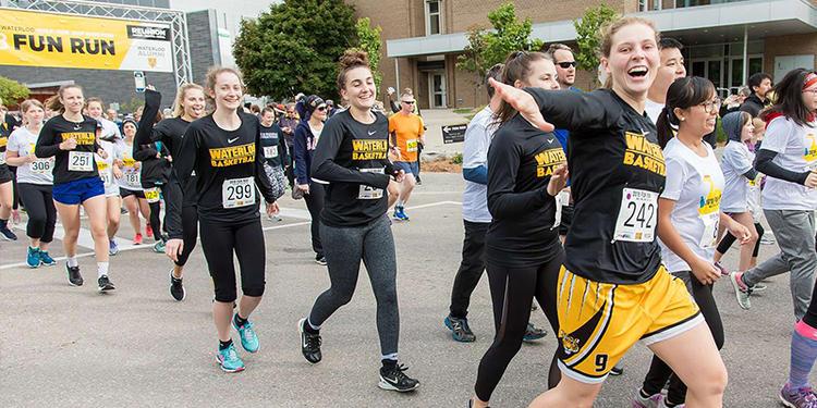 Participants in fun run running