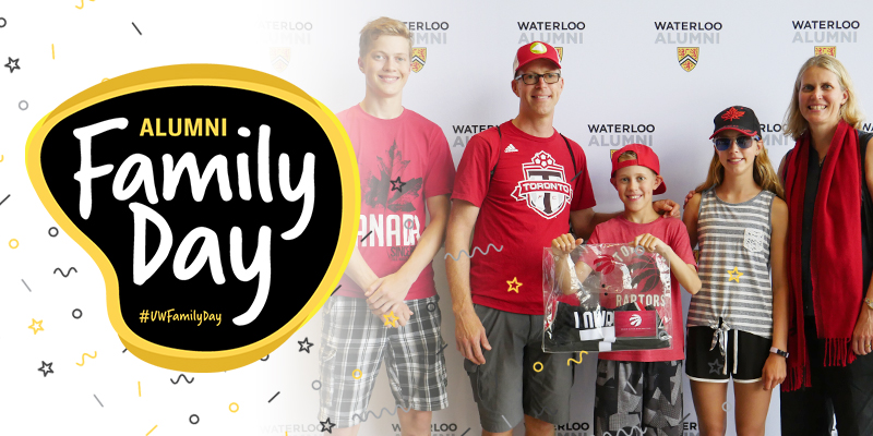 Alumni Family Day Header image with family