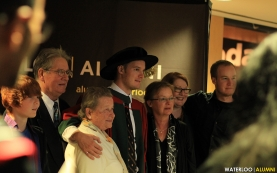 masters grad and family