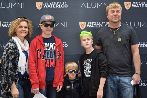Jacob and Ben with their family at UWaterloo Family Day