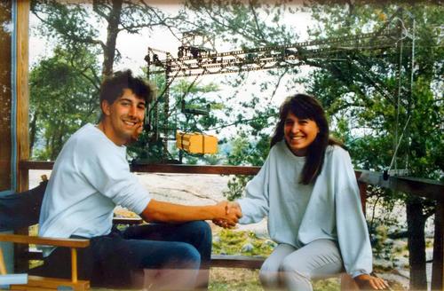 Carl and Jennifer in 1987