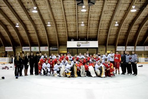 China hockey team and the Warriors