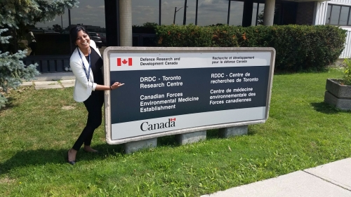 Janani at the DRDC Toronto Research Centre