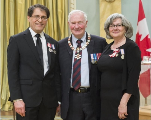 Joe and Stephanie Mancini honoured to the Order of Canada by Governor General David Johnston