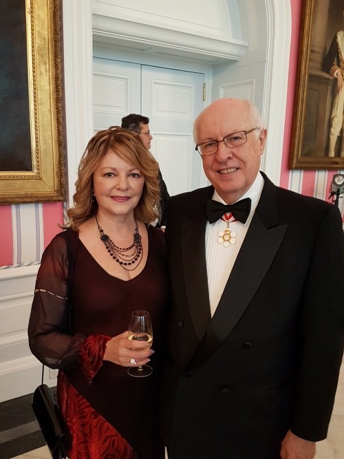 John English with his wife Irene at Rideau Hall