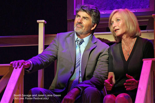 Actors on stage in a Norm Foster play