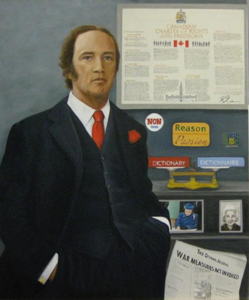 Portrait of Pierre Trudeau