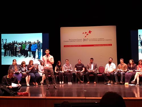 Sharing our study tour experience with the Governor General and other conference delegates