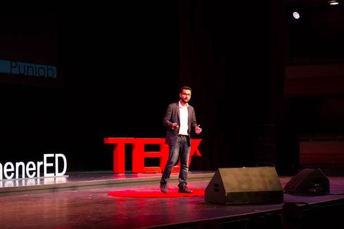 Nirbhay Singh giving a TED talk