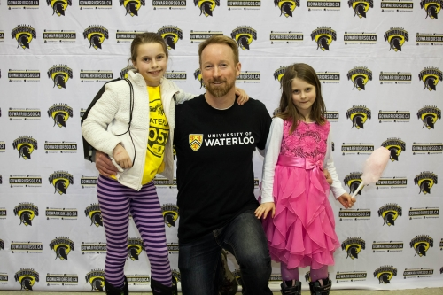 Troy with his daughters at FAD