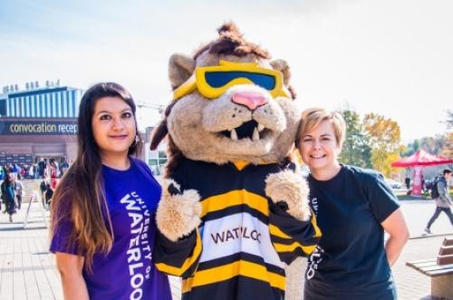 Image of Wardah, King Warrior mascot and Lisa