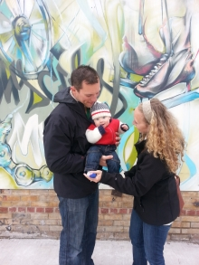 Beth and Chris Wolf with son