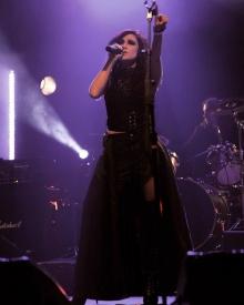 Cecile Monique on stage