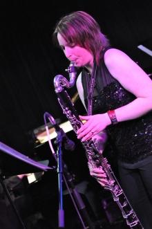 Kathryn performing
