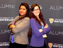 Headshot of Tori Gentile (on right) beside fellow co-op placement Wardah Anwer