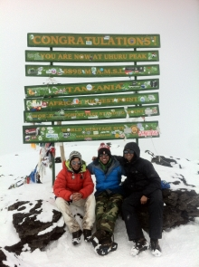 Zamir with friends on mountain