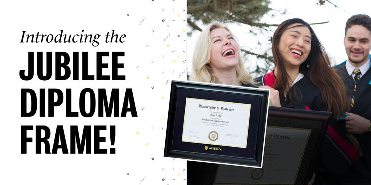 Introducing the Jubilee Diploma Frame!