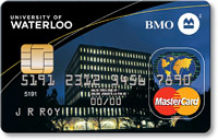 Bank of Montreal mastercard and extrenal link to BMO website