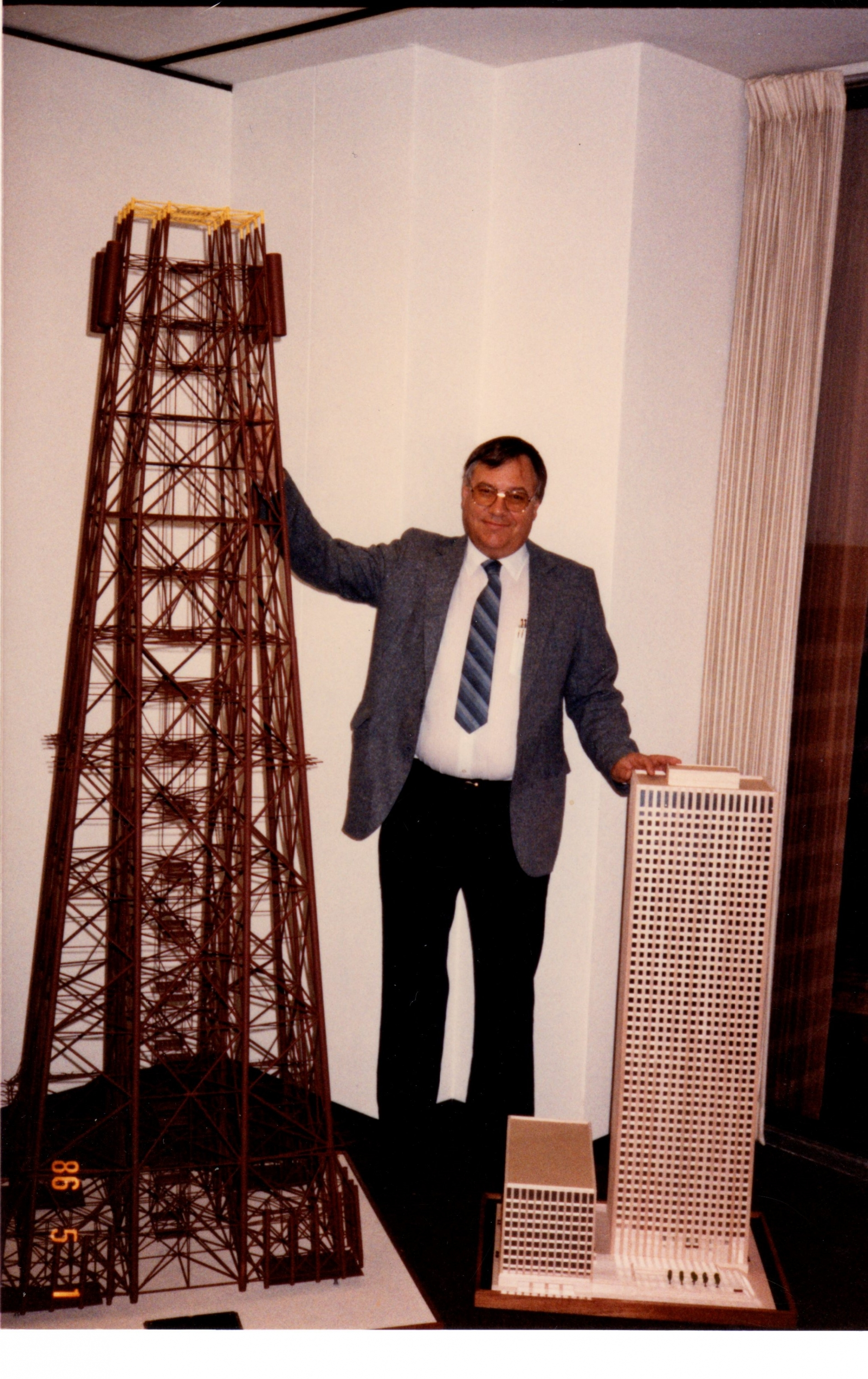 Gordon Sterling with building models