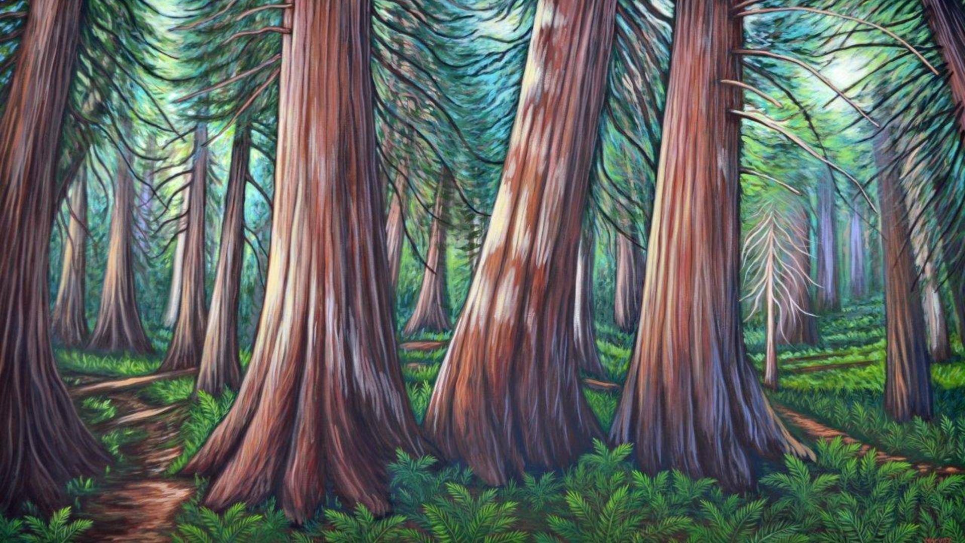 Melanie painting of trees