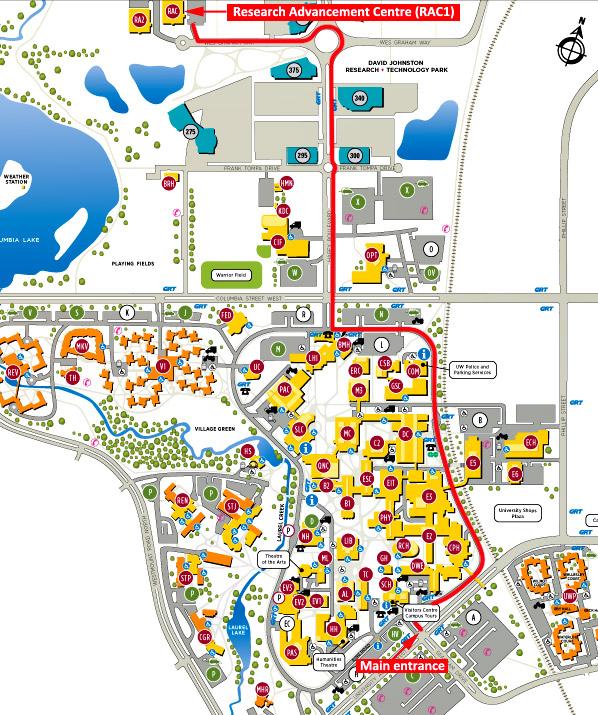 Directions To Frames Alumni University Of Waterloo