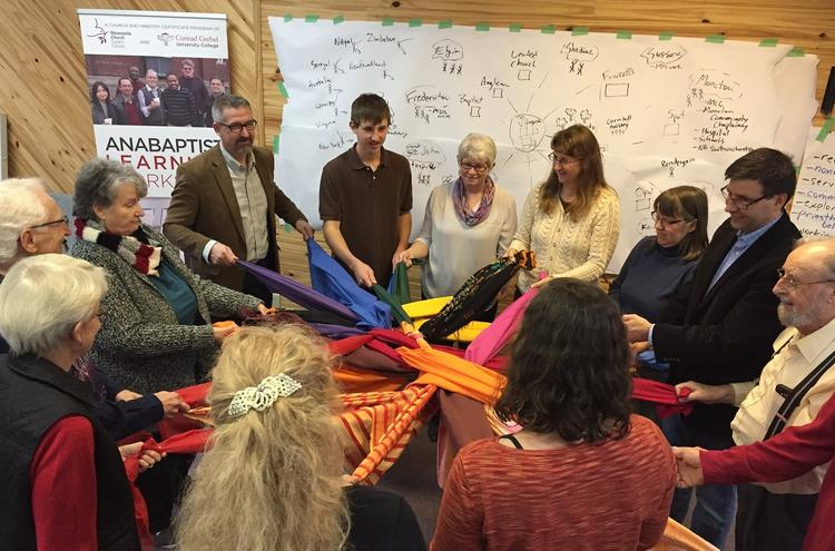 group workshop with scarves