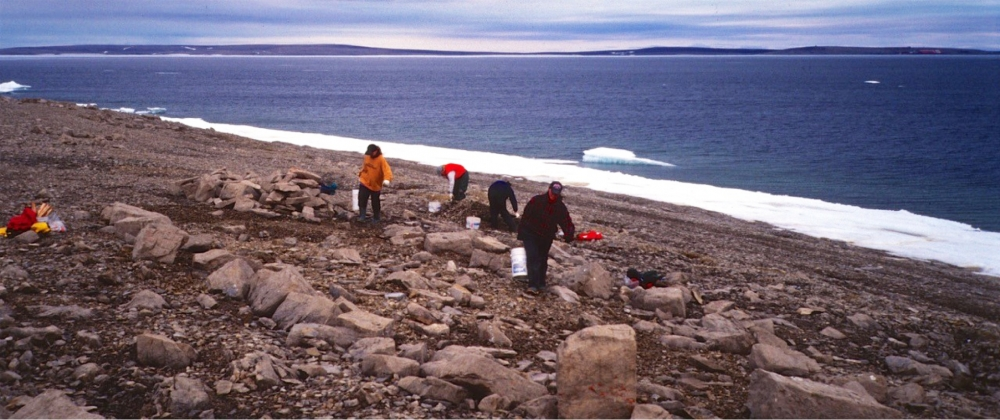 Robert Park's student assistants work at a site in the High Arctic