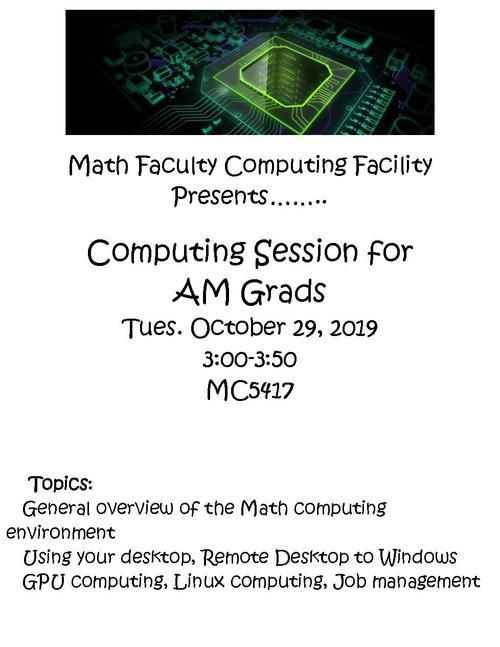 Flyer for grad computing session