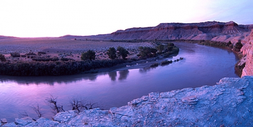 Bend in the green river
